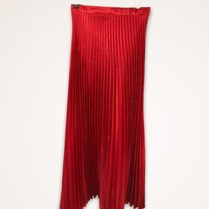 Dresses & Skirts - Donna Morgan bright red permanently pleated skirt